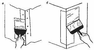 Заделка трещин на угловой защитной накладке