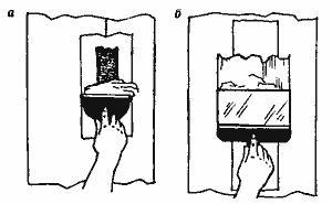 Заделка трещин на ленте, наложенной на стыки